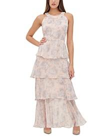 Floral-Print Tiered Maxi Dress