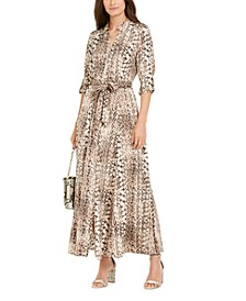 INC Snake-Print Maxi Shirtdress, Created For Macy's
