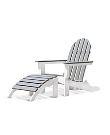 Adirondack Outdoor Chair & Ottoman Set