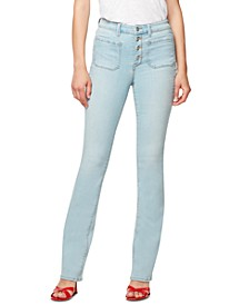 Demi Button-Fly Bootcut Jeans