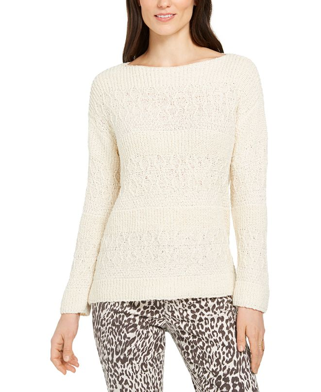 Style & Co Petite Slub-Knit Pullover Sweater, Created for Macy's