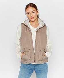Thread Supply Reversible Quilted and Sherpa Lined Vest