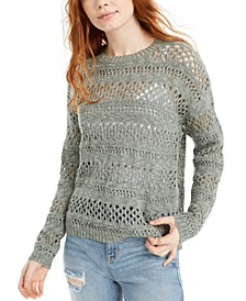 Juniors' Open-Stitch Sweater