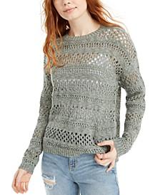 Juniors' Open-Stitch Sweater
