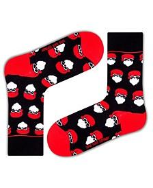 Women's Christmas Organic Cotton Socks with Santa Design