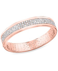 Zaxie High Society Pave Hinged Bangle Bracelet