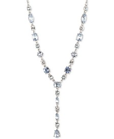 """Silver-Tone Crystal & Stone Lariat Necklace, 16"""" + 3"""" extender"""
