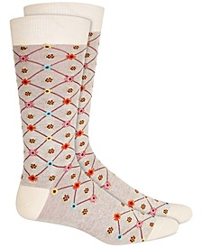Men's Floral Argyle Socks, Created for Macy's