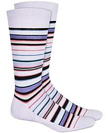 Men's Variegated Stripe Socks, Created for Macy's