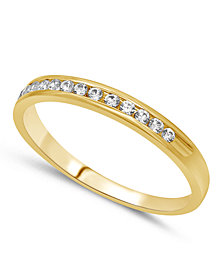 Diamond Band (1/6 ct. t.w.) in 14k White, Yellow or Rose Gold