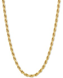 "Rope Link 18"" Chain Necklace in 18k Gold-Plated Sterling Silver"