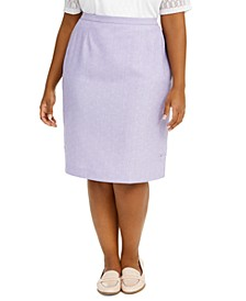 Plus Size Nantucket Pencil Skirt