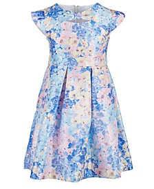 Toddler Girls Floral-Print Cap-Sleeve Dress