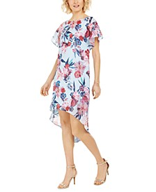 Floral Chiffon Overlay Dress