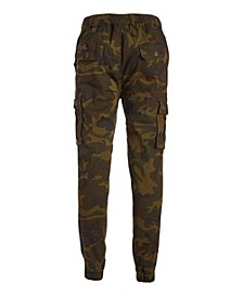 Men's Cotton Stretch Twill Cargo Joggers