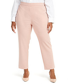 Alfani Plus Size Pull-On Dress Pants, Created for Macy's