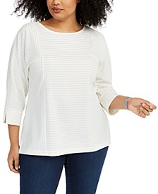 Plus Size Textured Top, Created for Macy's