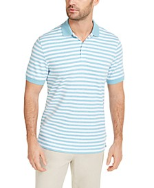 Men's Striped Interlock Polo Shirt, Created for Macy's