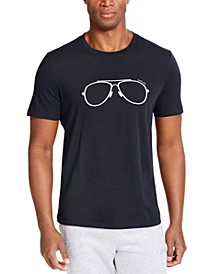 Men's Embroidered Aviator Graphic T-Shirt