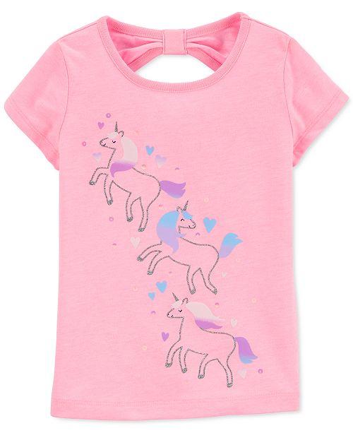 Carter's Toddler Girls Bow-Back Unicorn T-Shirt