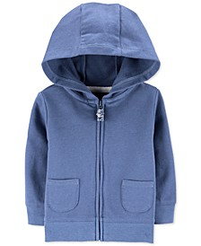 Baby Boys Zip-Up Cotton French Terry Hoodie