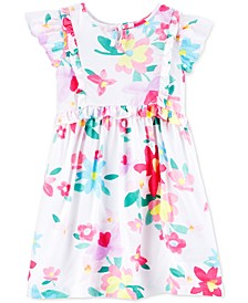 Toddler Girls Floral-Print Flutter Dress