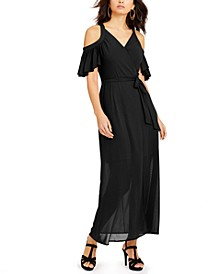 Cold-Shoulder Mesh Dress, Created for Macy's