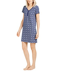 Cotton Printed Sleepshirt Nightgown, Created for Macy's