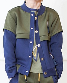 Toddler and Little Boys Scuba Bomber Jacket