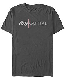 Billions Men's Axe Cap Logo Short Sleeve T- shirt