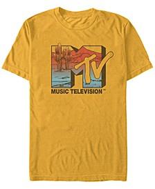 Men's Desert Sunset Style Logo Short Sleeve T- shirt