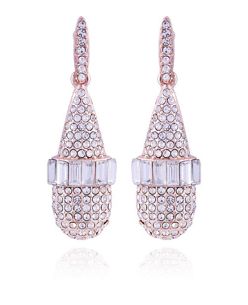 T Tahari Pave Fire Essential Drop Earring