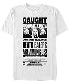 Harry Potter Men's Lucius Malfoy Death Eaters Caught Poster Short Sleeve T-Shirt