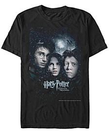 Harry Potter Men's Prisoner of Azkaban Harry Ron Hermione Poster Short Sleeve T-Shirt