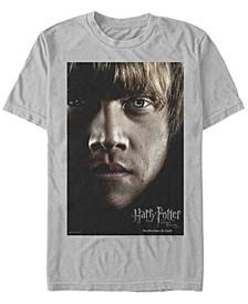 Harry Potter Men's Deathly Hallows Ron Weasley Big Face Poster Short Sleeve T-Shirt