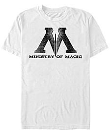 Harry Potter Men's Ministry of Magic Logo Short Sleeve T-Shirt