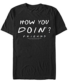 Friends Men's Joey Tribbiani How You Doin Quote Short Sleeve T-Shirt