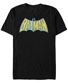 DC Men's Batman Retro Cape Logo Short Sleeve T-Shirt