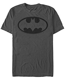 DC Men's Batman Simple Outline Logo Short Sleeve T-Shirt