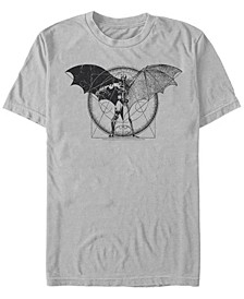 DC Men's Batman Geometric Schematic Short Sleeve T-Shirt