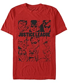 DC Men's Justice League Hero Box Up Short Sleeve T-Shirt
