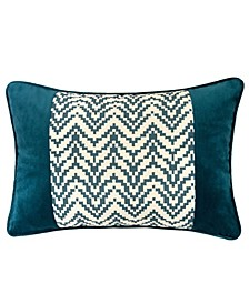 Hannah Chevron Bow Throw Pillow