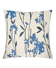 Rylan Embroidered Linen Square Decorative Throw Pillow