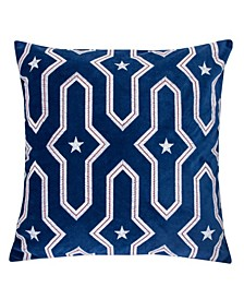 Star Independence Day Square Decorative Throw Pillow