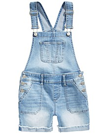 Big Girls Faded Denim Shortalls