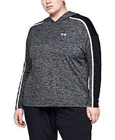 Plus Size Tech Colorblocked Hoodie Top