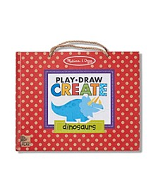 Melissa Doug Natural Play: Play, Draw, Create Reusable Drawing Magnet Kit – Dinosaurs 41 Magnets, 5 Dry-Erase Markers