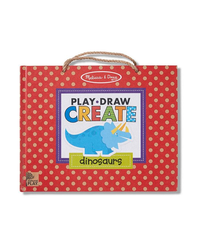 Melissa and Doug - Natural Play: Play, Draw, Create Reusable Drawing Magnet Kit – Dinosaurs 41 Magnets, 5 Dry-Erase Markers