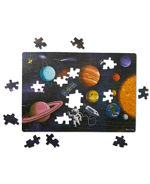 Melissa and Doug Melissa Doug Natural Play Cardboard Jigsaw Floor Puzzle: Outer Space 100 Pieces