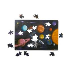 Melissa Doug Natural Play Cardboard Jigsaw Floor Puzzle: Outer Space 100 Pieces